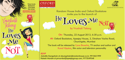 "Post image for Book Launch ""He Loves Me Not"" by Random House"