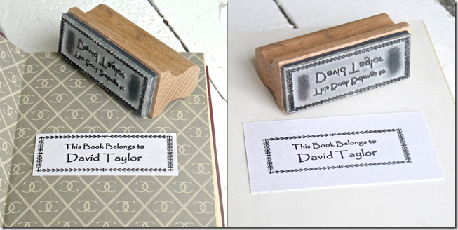 Customizable stamp- This Book Belongs to