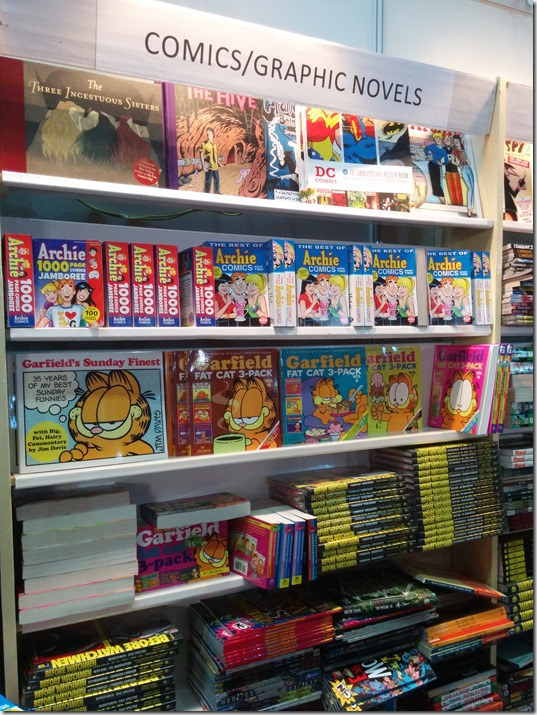 Comics / Graphic Novel Section at Penguin Random House Booth at World Book Fair Delhi