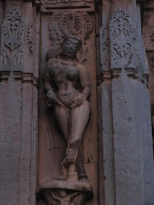 Sculpture depicting a devadasi