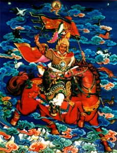 A depiction of King Gesar