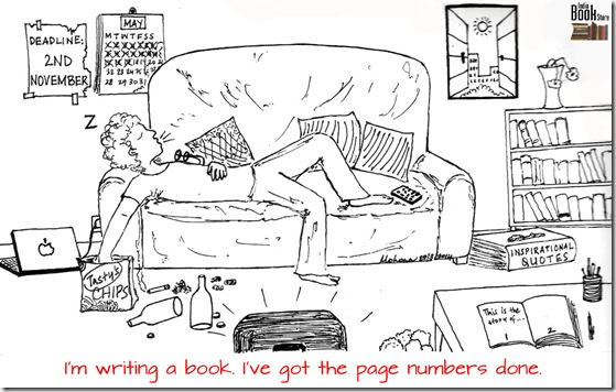 writer cartoon