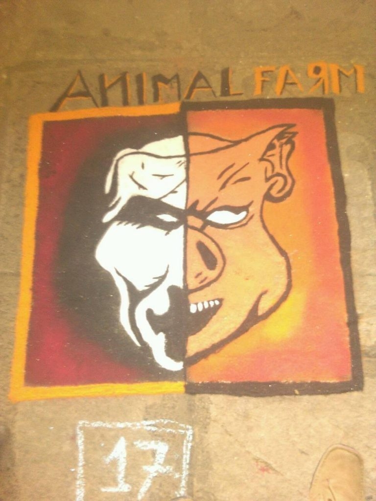 animal farm book rangoli