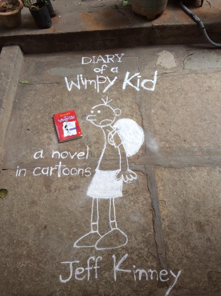 diary wimpy kid book rangoli