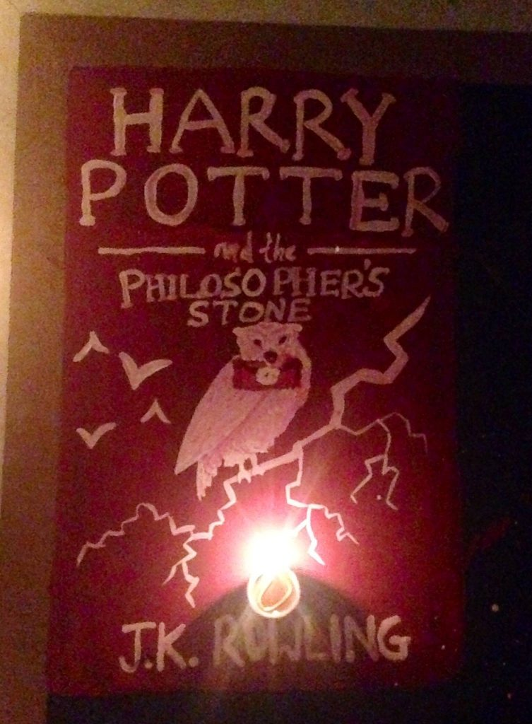 harry potter book rangoli