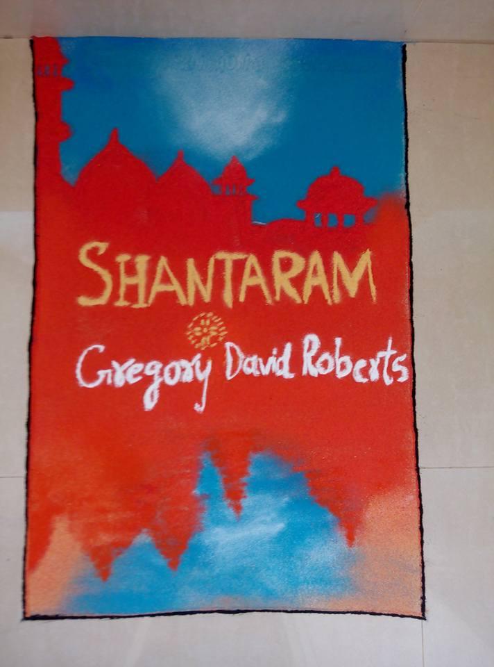 shantaram book rangoli