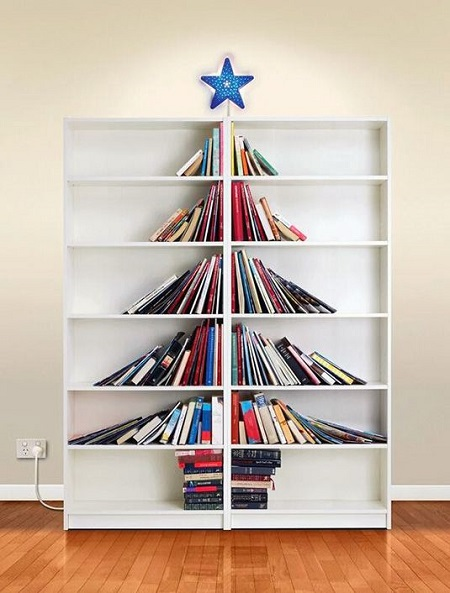 book christmas tree