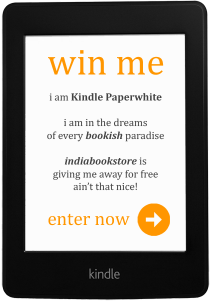 I am Kindle PaperWhiteperwhite, I am in the dreams of every bookish paradise, indiabookstore is giving me away for free, ain't that nice